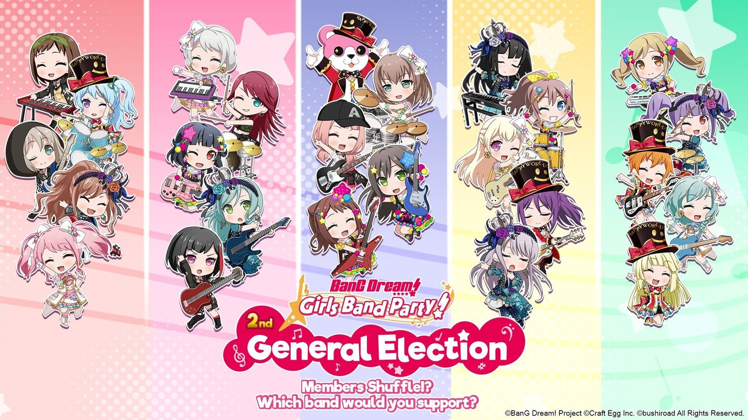 BanG Dream! Girls Band Party! 2nd General Election