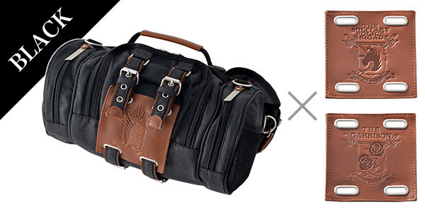 AOT 4-Way Bag: Black w/ Military Crest Set (For Delivery Outside of Japan)